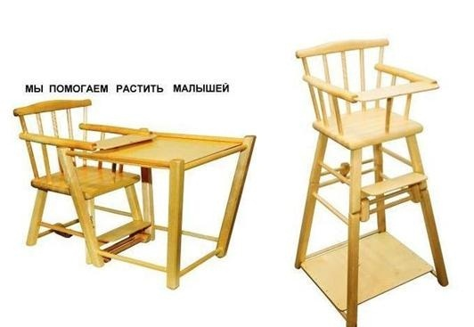 деревянный или пластиковый стульчик для кормления мебель