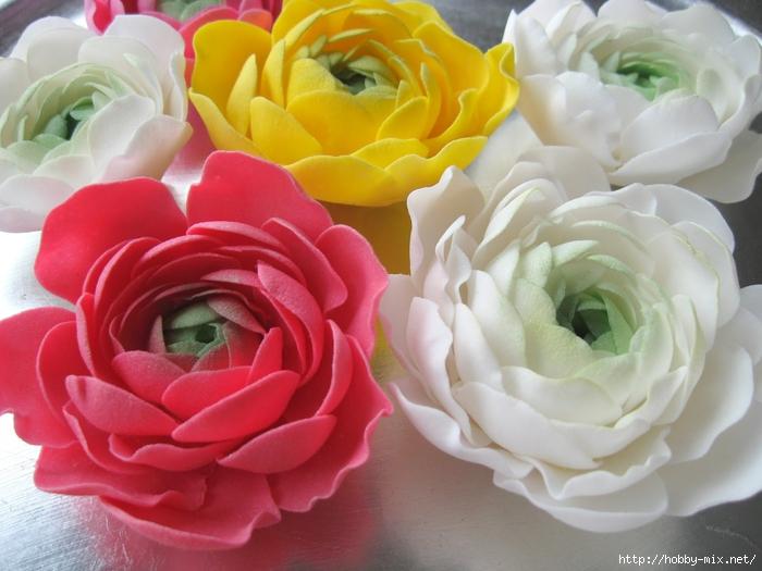 Лепка. Шикарные цветы из сахарной мастики для украшения тортов. Фото мастер-  классы- много cd6ad674ea7