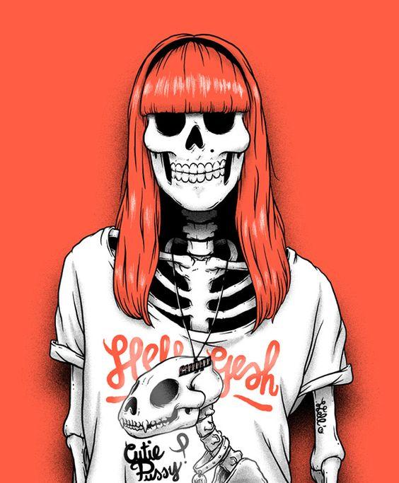 Фото на аву красный скелет